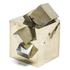 A naturally formed Pyrite Cube Cluster from Navajun, La Rioja, Spain #amazing #pyrite