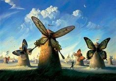 Russian artist Vladimir Kush was born in Moscow and is a surrealist painter and sculptor. He defines his art as metaphorical realism instead surrealism. His paintings are fascinated by fantasy stories. His paintings looks like influenced by Salvador Dali. Vladimir Kush, Salvador Dali Gemälde, Salvador Dali Paintings, Fantasy Kunst, Fantasy Art, Surrealism Painting, Painting Gif, Beautiful Drawings, Beautiful Pictures