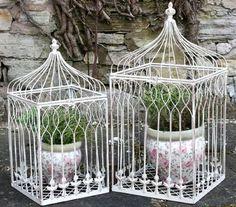 Ornamental Metal Birdcage Planters | eBay | eBay.co.uk