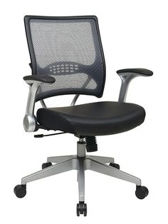 Mesh and Eco Leather office chair- Flip Arms!