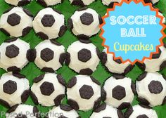 Posed Perfection: Soccer Ball Cupcakes