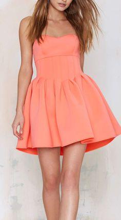 Coral skater dress