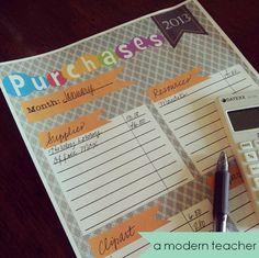 January Teacher Expenses {Freebie}
