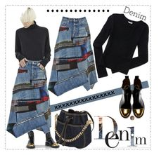 """""""Denim"""" by gabrilungu ❤ liked on Polyvore featuring Junya Watanabe, Aéropostale, Dsquared2 and denim"""
