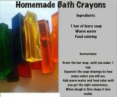 Make some bath crayons for@ the kiddos King Bidgood's in the Bathtub