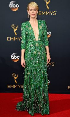 Emmys 2016: Best Dresses of the Night - Sarah Paulson in Prada