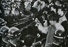 Flower Power outside the Pentagon during the October 1967 anti-Vietnam War march