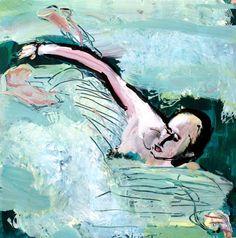 Jeune Homme qui Nage dans l'Etang de Thau | johnskinner.me.uk