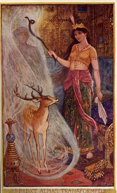 What the Rose did to the Cypress - The Brown Fairy Book by Andrew Lang, 1904