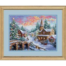 Dimensions D08783   Holiday Village Christmas Counted Cross Stitch Kit 41 x 30cm