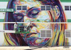Street Art by David Walker in The Wynwood Art District, a district of the Wynwood neighborhood of Miami Street Art Utopia, 3d Street Art, Outdoor Sculpture, Outdoor Art, Sidewalk Chalk Art, Arts And Crafts House, Installation Art, Art Installations, Key West