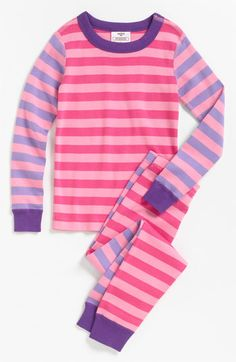 Hanna Andersson Two Piece Fitted Pajamas (Little Girls & Big Girls) available at #Nordstrom