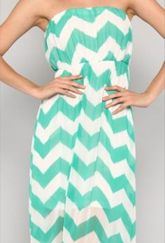 Mint Chevron Maxi Dress - LOVE IT!