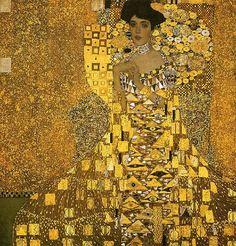 Gustav Klimt Portrait of Adele Bloch (gold foil) painting for sale - Gustav Klimt Portrait of Adele Bloch (gold foil) is handmade art reproduction; You can buy Gustav Klimt Portrait of Adele Bloch (gold foil) painting on canvas or frame. Art Nouveau, Art Klimt, Most Expensive Painting, Famous Art Pieces, Famous Modern Art, Woman In Gold, Fine Art, Art Plastique, Art History