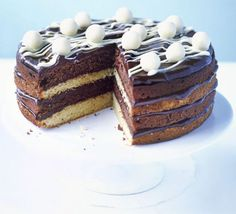 For big celebrations this cake is a must, four layers of moist sponge, lashings of chocolate ganache and the crunch of Maltesers