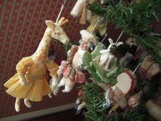 Spun cotton Christmas decorations made by Darla & Jerry Arnold
