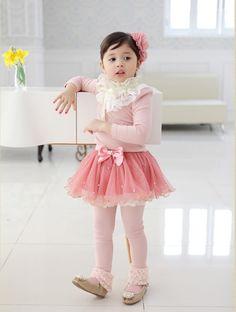 韓國童裝品牌STORYMARKET~公主高領蕾絲上衣 (粉色)3~13號