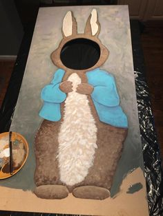 My amazing friend, Jason Parker Counce of Nashville, is making this FABULOUS Peter Rabbit hole-in-face display for Stella's party. I am so grateful and soooo excited!!!