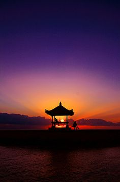 Morning time at Sanur Beach, Bali.