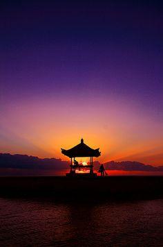 Morning time at Sanur Beach, Bali.