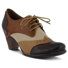BROWN BARDOT PUMP by L'Artiste – Spring Step Shoes