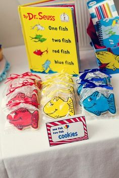 """Photo 4 of 18: Cat in the Hat and Thing 1/2 and One Fish 2 Fish / Birthday """"Dr. Seuss Inspired Book Favorites"""" 