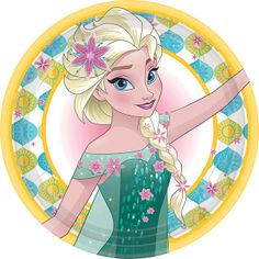 Disney Frozen Fever Dinner Plates 8 small party plates, Colorful plate design from Frozen!, Perfect American Greetings party supplies for a kid's birthday party or Frozen Fever-themed party Frozen Disney, Anna Frozen, Tags Frozen, Anna E Elsa, Elsa Elsa, Film Frozen, Frozen Fever Party, Frozen Birthday Party, Disney Birthday