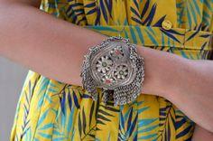Alten Kashmiri Franse Armband Bejeweled Schild von Faerymother