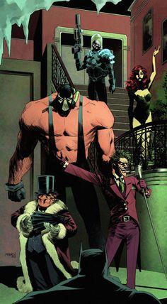 Imaginary Gotham - The art of Batman and his Universe. Comic Book Villains, Gotham Villains, Dc Comics Characters, Comic Books Art, Comic Art, Le Joker Batman, Joker And Harley, Arte Dc Comics, Dc Comics Art
