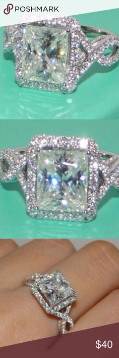 🆕 Ss white sapphire ring. Sterling silver white sapphire ring. Jewelry