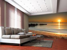 Salon z widokiem na morze Flat Screen, Shower, Pictures, Drawing Rooms, Photo Wallpaper, Wallpapers, Flat Screen Display, Rain Shower Heads