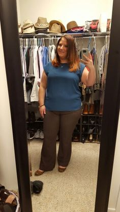 2.22.16, Ann Taylor top, NY & Co pants and Mossimo flats
