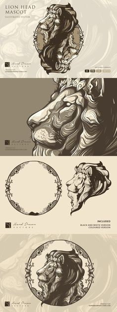 Tattoo Lion Design Logo Inspiration 49 Ideas For 2019 Lion Design, Animal Drawings, Illustration, Lion Illustration, Lion Logo, Chest Piece Tattoos, Lion Art, Graphics Inspiration, Animal Logo
