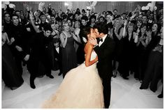 i like the bride and groom in color and everyone else in black and white