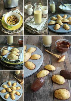 Madeleines à la pistache (avec recette maison du lait et de l'okara de pistache à l'extracteur de jus BioChef)