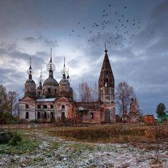 Church of the Resurrection of Christ (1782), village Ostrov, Yaroslavl Region, Russia.