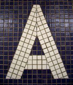 "new york subway, tile ""a"""