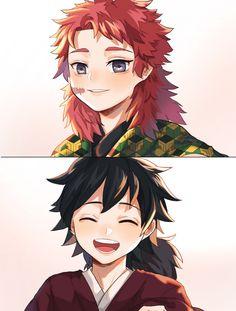 【Week 6】Smile 🐱🦊 Giyuu * Sabito ※義錆 ※ぎゆさび Manga Anime, Manga Boy, Anime Demon, Anime Art, Demon Slayer, Slayer Anime, Mein Crush, Itachi, Wattpad