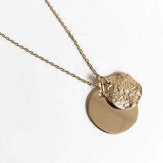Collier plaqué or médaillon rond à graver et pendentif gondolé - Jolie  Demoiselle - Bijoux Femme 12b1767e9551