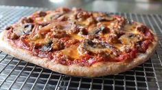 Quick and easy pizza dough, no kneading required. See the recipe plus a helpful video and have homemade pizza in under an hour. Spelt Pizza Dough Recipe, Tomato Pizza Recipe, Dough Pizza, Spelt Recipes, Pizza Recipes, Vegetarian Recipes, Flour Recipes, Bread Recipes, Vegan Vegetarian