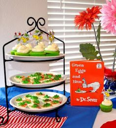 green eggs and ham--never would have thought of that!