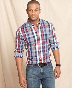Tommy Hilfiger Shirt, Slim-Fit Ulbrecht Plaid Shirt - Casual Button-Down Shirts - Men - Macy's