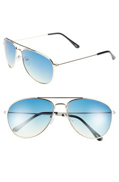 These blue and gold aviators are on the summer wish-list.