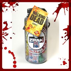 Check out our review of the awesome new official AMC The Walking Dead Zombie Preparedness Apocalypse Kit!   http://www.zombiegift.com/twd-zpak-review