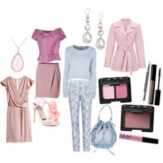 """Theatrical romantic, soft summer coloring, lollipop body shape"" by mary-86 on Polyvore"