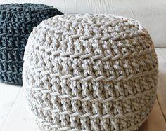 Pouf Crochet - Thick Cotton - linen