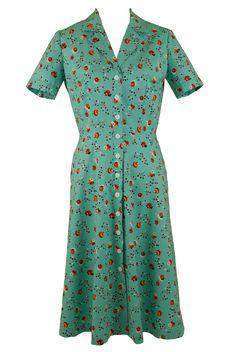 1940s Print Floral Shirt Dress. £150.00, via Etsy.