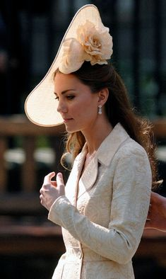 Kate wearing Treacy at the wedding of Zara Phillips and Mike Tindall in 2011.