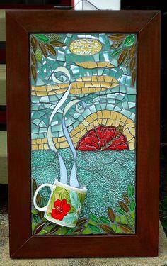 Wake up & smell the Aloha, mosaic art.  Awesome!