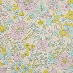 Ideas Wallpaper Floral Blue Vintage For 2019 Modern Floral Wallpaper, Metallic Wallpaper, Bird Wallpaper, Striped Wallpaper, Original Wallpaper, Wallpaper Iphone Cute, Pattern Wallpaper, Mid Century Modern Art, Vintage Flowers